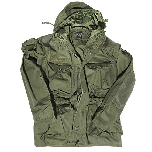 Mil-Tec Outdoorjacke Smock Light Weight (L, Oliv) -