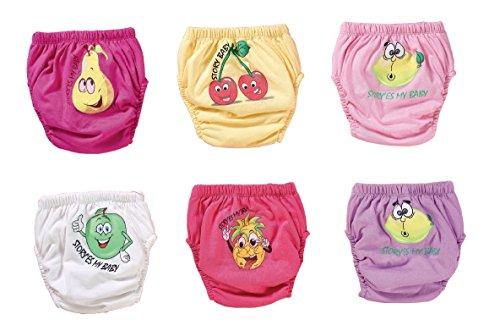 origin-AL Home & Style OBSTSORTEN 6er Pack Wasserdicht Baby Lernwindel Trainerhosen Unterwäsche Windeln Windelhose zum Toilettentraining Töpfchentraining (Set, 100)
