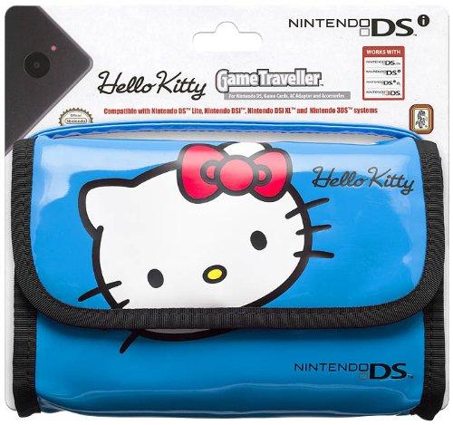 Sacoche de Transport Hello Kitty pour 3DS - Bleu
