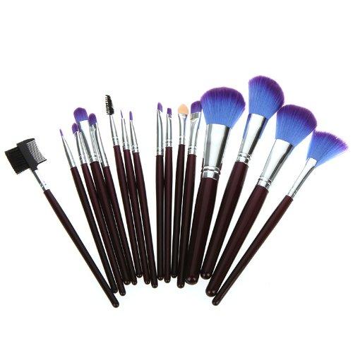 Abody 16 pcs brosse cosmétique /pinceau de maquillage/outil de make-up set kit avec une pochette pourpre