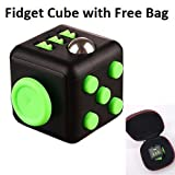 #10: Stress Relief Reliever Magic Fidget Cube Dice Anxiety Toy With Bag