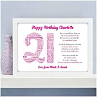 Personalised Birthday Gifts for Her, Girls, Mum, Daughter, Sister - 13th, 16th, 18th, 21st, 30th, 40th, 50th, 60th Birthday Gifts for Son, Boys, Brother, Dad, Grandparents - A5, A4 Prints and Frames