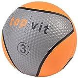 top | vit Medizinball - Fitnessball mit Gummioberfläche | Medizinbälle in Studio Qualität | 3kg, Neonorange