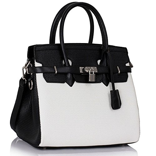 tote-bag-for-women-ladies-celebrity-style-faux-leather-top-handle-handbags-y-black-white