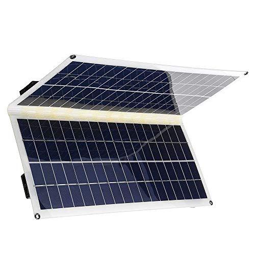 Caricabatterie portatile Banca di alimentazione impermeabile, Caricabatterie solare Pannello solare da 30 W con due porte USB Impermeabile pieghevole per tablet smartphone e viaggi in campeggio