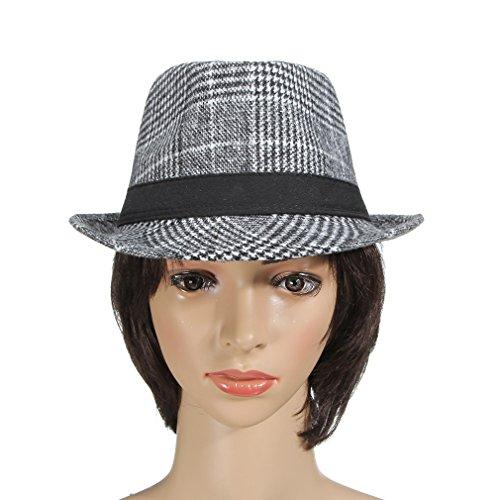 La Vogue Chapeaux Fedora Trilby Outdoor Chapeau Jazz Loisir Homme Panamas Gris Clair