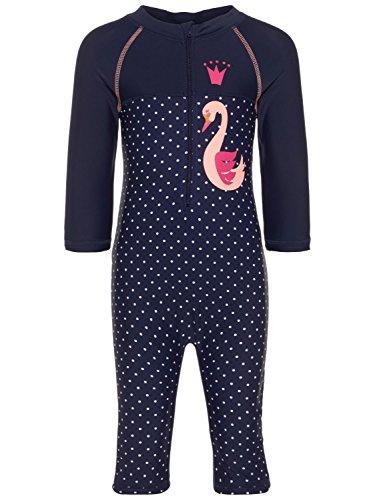 Name it 13147269 NMFZARI Kinderbadeanzug Badeanzug für Kinder UV-Schutz UV-Anzug Sonnenschutz Schutzanzug Strand Kinder Sonne SommerurlaubBadeanzug lang mit Bein und Arm (80)