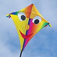 CIM Großer Kinderdrachen - Super-Drachen - Einleiner Flugdrachen für Kinder ab 6 Jahren - inklusiv 80m Drachenschnur und Streifenschwänze …