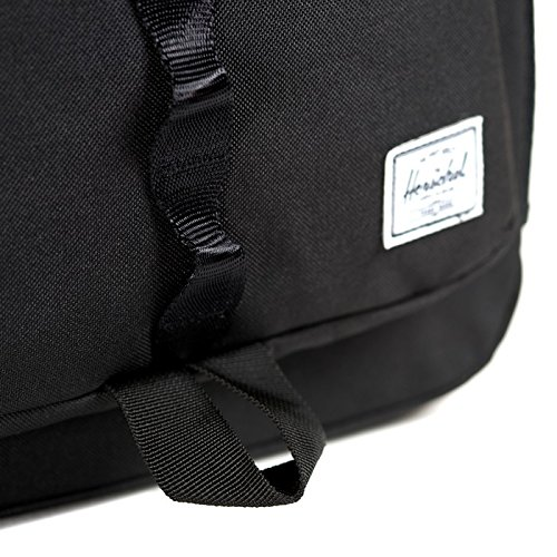 Herschel 10011-00001  Pop Quiz Backpack Rucksack, 1 Liter, Schwarz/Tan Schwarz (Black Backpack)