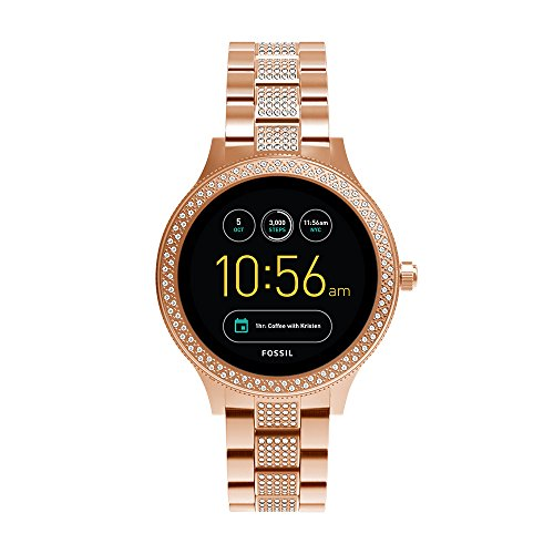 Fossil Venture Analog-Digital Black Dial Women's Watch-FTW6008