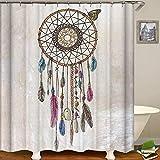 "Decdeal Shower Curtain Fresh Style Blackout Curtains Waterproof Mildew-Proof Bathroom Curtain 71""x71"""
