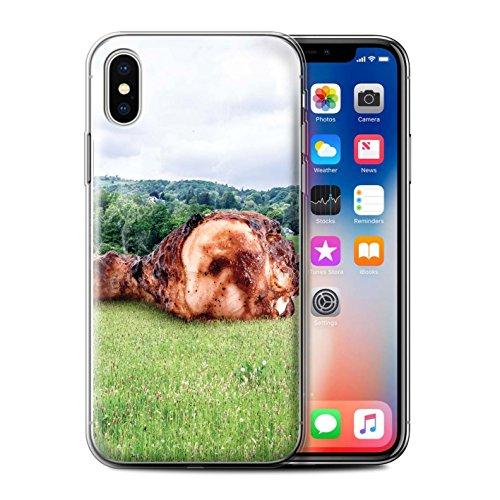 Stuff4 Gel TPU Hülle / Case für Apple iPhone X/10 / Pack 14pcs / Unten Unter Kollektion Meatior