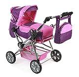 Bayer Chic 2000 562 40 - Kombi-Puppenwagen Road Star, Dots lila/rosa