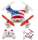 Designgearint® 2.4G 6-Axis Gyro Remote Control Super Mini Headless Mode Quadcopter - American Flag / Super Aviator (American Flag)