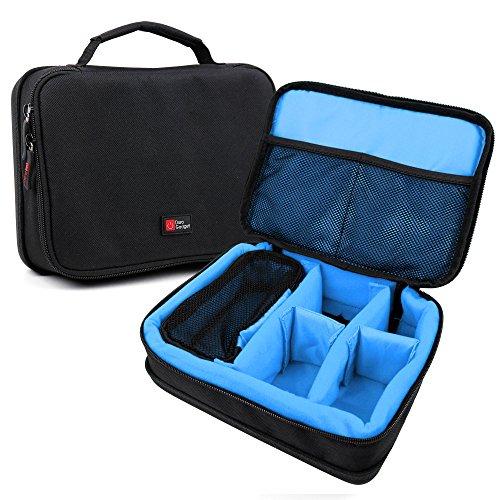 DURAGADGET Sacoche modulable pour Enceintes Philips BT50, Anker Soundcore Boost and Zenbre F3 Enceinte Portable+ Accessoires - Noir/Bleu