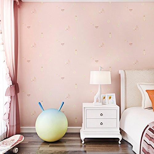 bizhi-papier-peint-contemporain-stripe-053-m-10-m-mur-couvrant-sticker-papier-non-tissrose-ple