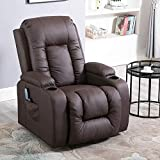 Sanery Massage Chair Recliner Armchair Electric Rise Heat and Vibration 160 Degree Recline
