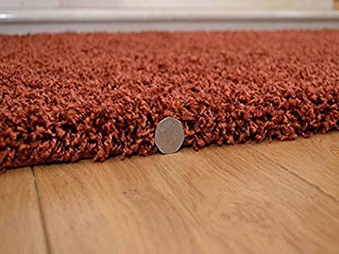 Soft Touch Shaggy Rust Thick Luxurious Soft 5cm Dense Pile