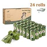 Toozey 360 Sacchetti Cane Biodegradabili, Sacchetti per Cani con Dispenser, Anti Perdita & Inodore, Spessi e Grandi, Facile da Strappare, 24 Rotoli
