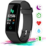 Winisok Fitness Armband Pulsmesser Farbdisplay IP67, Fitness Tracker Aktivitätstracker Herzfrequenz Wasserdicht Schwimmen Smart Armband Pedometer Kompatibel mit iOS Android APP auf Deutsch