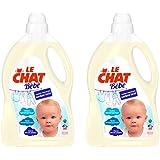 Le Chat Bébé Lessive Liquide Hypoallergénique Flacon de 3 L/40 Mesures - Lot de 2