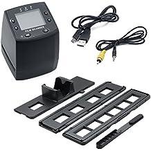 Qumox 35mm de alta resolución portátil Cine y escáner de diapositivas. Pantalla LCD Color Uso para su edad Kodak, Fuji, Agfa, Konica, Ilford Color Negativo, Blanco y Negro y Color películas de diapositivas