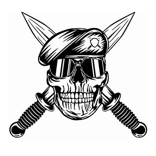 r Schädel Dolch Soldat Aufkleber Punk Tod Aufkleber Horror Halloween Teufel Poster für Autofenster Jungen Schlafzimmer ()
