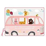 Pare-Soleil de fenêtre de Voiture pour bébé Car Window Shades Motif de Bande Dessinée Motif Girafe Conduite À Trois Couches Crème Solaire Ventouse Voiture Windows Protection Parasol pour Votre Enfant