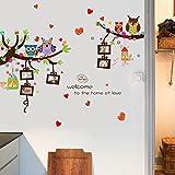 Aha Yo-Cartone Animato Gufo Cornice Fotografica, Muro Adesivo, Stanza Dei Bambini, La Sala Divano, Sfondo Muro, Muro Di Decorazione, Diy