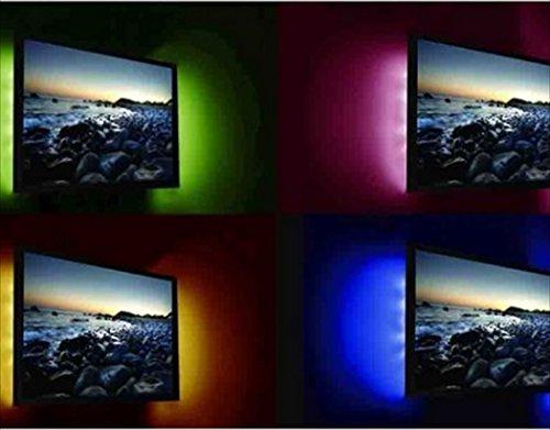 - Leuchtraketen, für TV, led, mehrfarbig, changable durch eine Fernbedienung), das Solarleuchte Fernsehgerät hinten indirekt schafft eine entspannende Atmosphäre und unglaublich apaisante. der Stange Dioden led-Leuchtmittel ist per Daher kann die USB, led in dem sie souhaitez. Einfache Installation-Anschluss, Kleben, terminé.-Set: 2 x led-(multi Colour) mm x 10 mm, mit USB und Fernbedienung. (Tv-etagere)