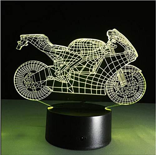 XINGXIAOYU Amp Motor Car Tischleuchte Touch Nachtlicht 7 Farben Ändern Motorräder Schlafen Lichter Acryl USB 3D Led Lampe Kinder -