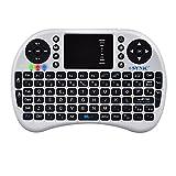 ESYNiC 2.4G Mini Tastiera Wireless con Touchpad Mouse - Layout Italiano - Perfetto per PC Pad Andriod TV Box Google TV Box Raspberry PI TV Box PS3 HTPC/IPTV - Colore Bianco