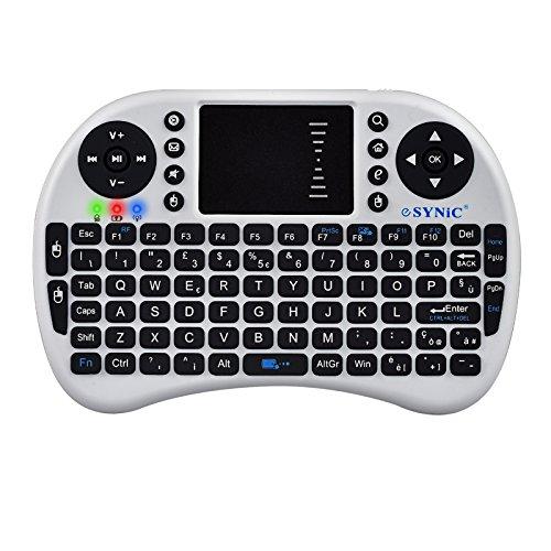 ESYNiC 2.4G Mini Tastiera Wireless con Touchpad Mouse - Layout Italiano - Perfetto per PC (Wireless Handheld Dispositivo)