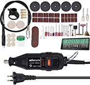 Walmeck Electric Grinding Tool,180W Handheld Electric Grinding Tool Set Mini Portable Rotary Drill Grinder Ver