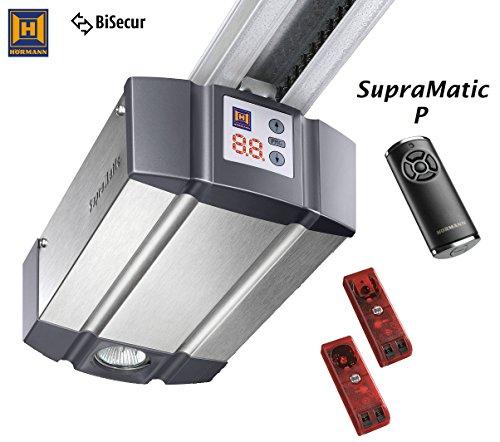 Standard-aluminium-tor (Hörmann Garagentorantrieb SupraMatic P Serie 3 BiSecur Antriebskopf inkl. Lichtschranke EL101 und Handsender HS5BS inkl. Schiene)