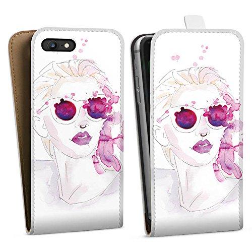 Apple iPhone X Silikon Hülle Case Schutzhülle Abstrakt Mädchen marenkruth Downflip Tasche weiß