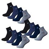 Footstar 12 Paar Herren Kurzsocken Socken mit Komfortbund Sommersocken Größe