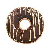 EUZeo Donut Kissen Fall weichen Plüsch gefüllte Kissen Fällen Pad Kissen Kissen Sitzbezug,40cm x 40cm x 12cm (40 x 40 x 12CM, Donut A)