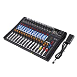 Buoqua 12 kanal Digital Mic Line audio mixer usb DJ Mixer 48V Phantom Mixing Console mischpult usb dj mischpult MP3 Audio Sound Mixer (12 kanal)