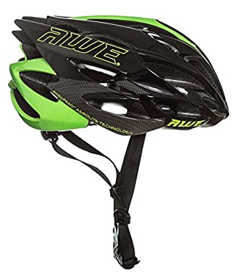 AWE® AWESpeedTM FREE 5 YEAR CRASH REPLACEMENT* In Mould Adult Mens Road Racing Cycling Helmet 58-61cm Black Green Carbon by AWE®
