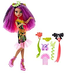"Monster High Dvh70 ""Electrified Monstrous Hair Ghouls Clawdeen Wolf"" Doll"