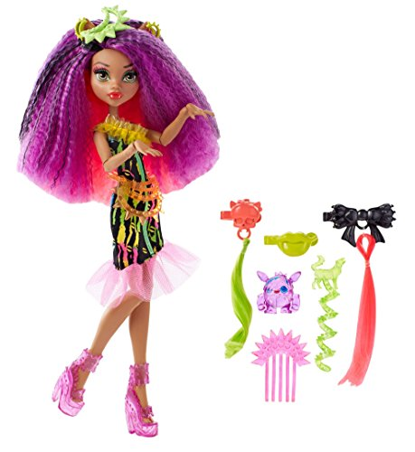 Monster High Monster High-DVH70 Barbie Muñeca clawdeen, Electro-Peina