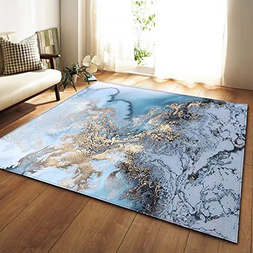 Abstrakte Marmor Kinder Bereich Teppich Rutschfeste Boden Weiche Ruhen Fußmatten Für Wohnzimmer Esszimmer,E,160x120cm -