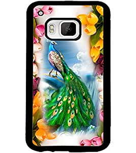 ColourCraft Beautiful Peacock Design Back Case Cover for HTC ONE M9