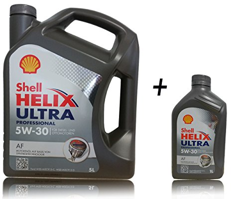 1x 5+ 1x 1l Shell Helix Ultra Professional AF 5W 30 pas cher