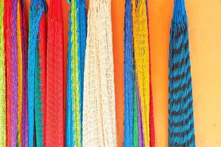 Feeling-at-home-KUNSTDRUCK-Mexiko,-Hängematten-Jalisco-von-Straßenhändlern-verkauft-cm50x76-POSTER-fuer-Rahmen