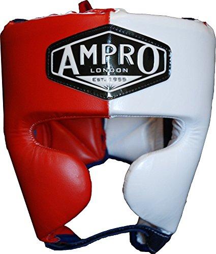 Ampro Mirage V2-Casco da allenamento boxe, colore: rosso/bianco/blu