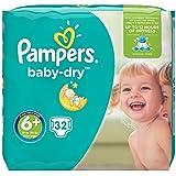 Pampers Baby Dry Schicht 16+ kg Größe 6+ 32-teilig