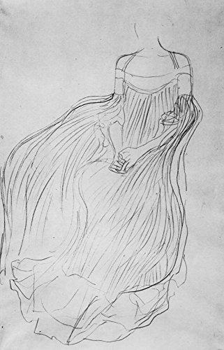 Kostüm Studie von Klimt, gespannte Leinwand Galerie verpackt. 29,7x 41,9cm ()