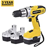 Powerplus 18v Cordless Drill / Driver Complete With 3 Batteries and Carry Case POWX0057 - 3 Year Home User Warranty